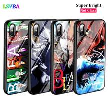 Black Cover Anime Bleach ichigo for iPhone X XR XS Max for iPhone 8 7 6 6S Plus 5S 5 SE Super Bright Glossy Phone Case black cover japanese samurai for iphone x xr xs max for iphone 8 7 6 6s plus 5s 5 se super bright glossy phone case