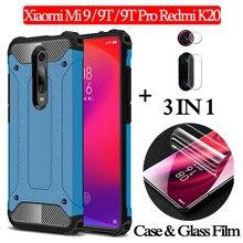 Hydrogel Film + Armor Case xiaomi mi 9t pro Camera Glass Hard Silicone Case mi9 t xiomi redmi k20 Full Cover Back Case mi 9 mi9t
