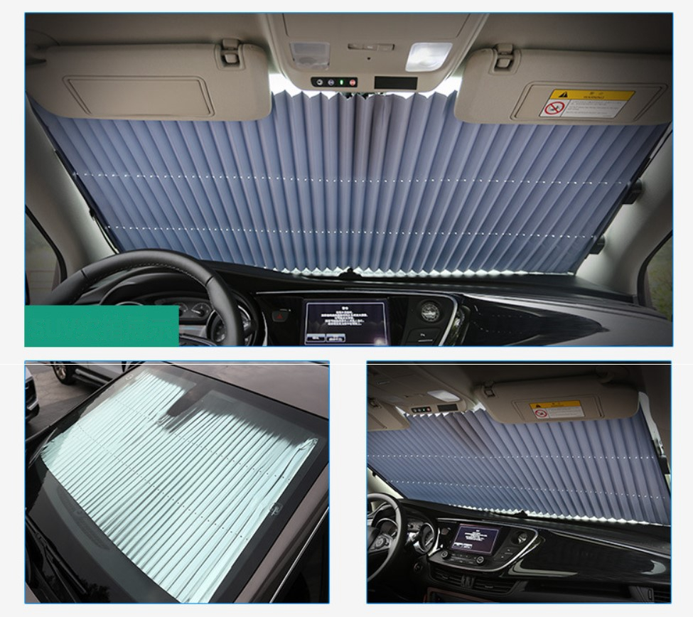 Car Front Window Sunshade Windshield Curtain Cover Sun Visor For Volkswagen Tiguan MK2 2015 2016 2017 2018 2019 Car Styling