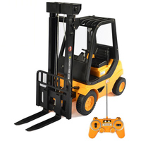 Simulation Engineering Vehicle Charging Electric Remote Control Forklift Automatic Toy 1:8 Remote Control Forklift Boy Gift