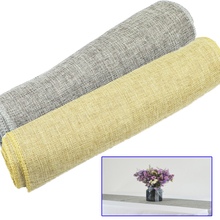 Rustic Table Runner Natural Imitated Linen Table Cloth Runners for Wedding Christmas Birthday Baby Shower Party