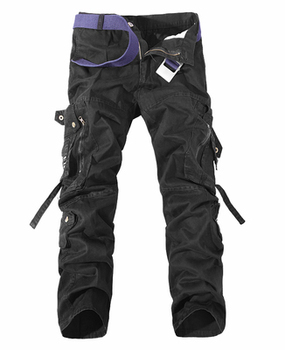2020 Men Cargo Pant Casual Men Multi-Pocket Overall Male Combat Cotton Trousers Army Casual joggers pants Size 42 Drop shipping - 33, Black