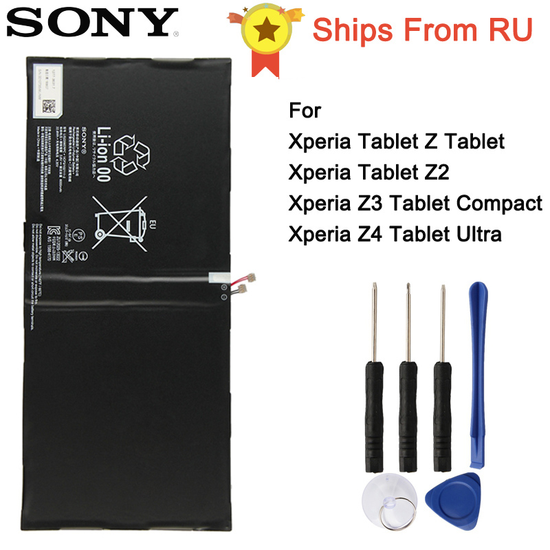 Original Sony Battery LIS2206ERPC For SONY Xperia Tablet Z2 SGP541CN Z3 Tablet Compact Z4 Tablet Ultra Tablet Z Tablet
