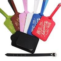 Neue Heiße Stanzen Buchstaben Koffer Gepäck Tag Tasche Reise Zubehör Name ID Adresse Personalisierte VIP Einladung Label