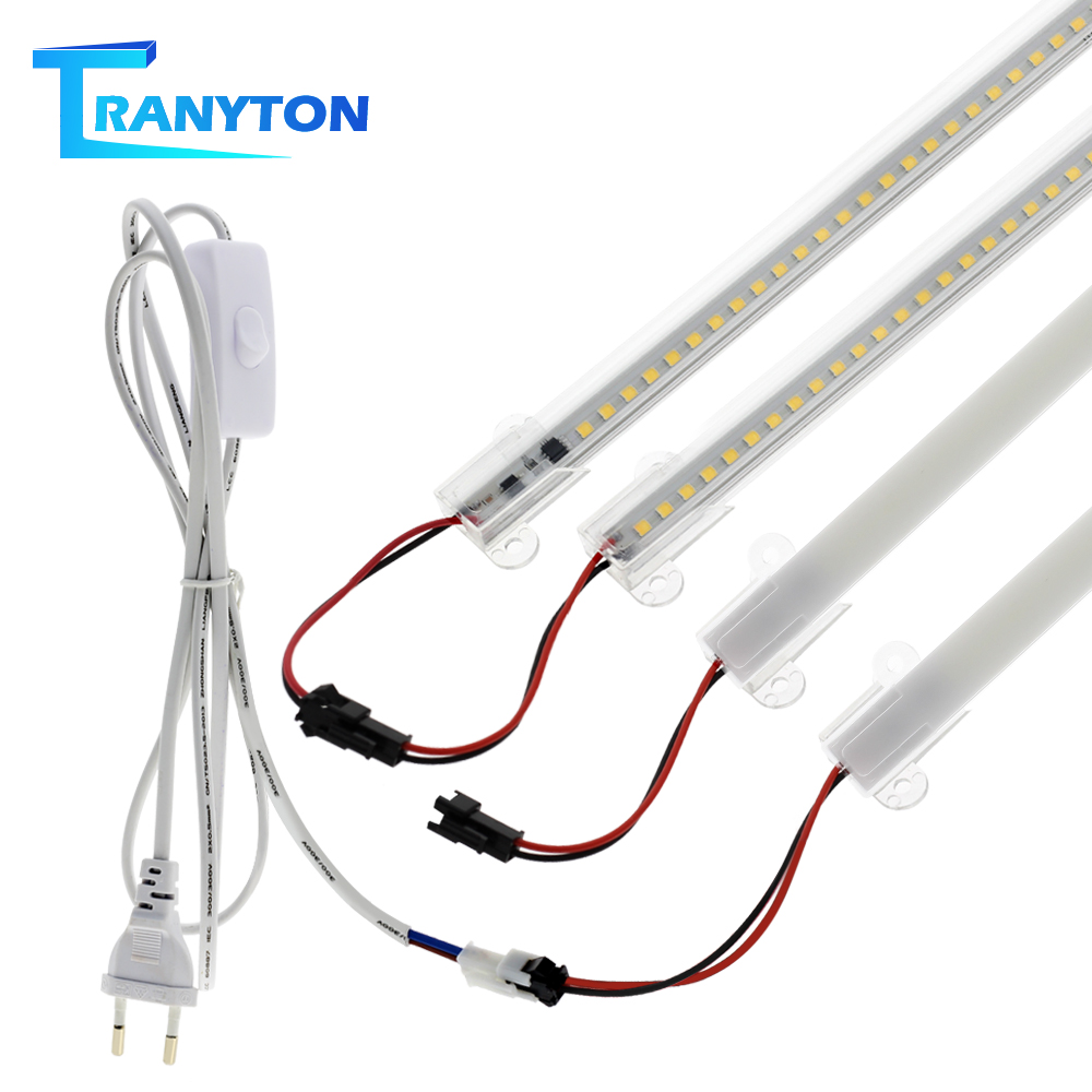 LED Tube Light AC220V  50cm 72LEDs High Brightness Night Bar 2835 Strip Energy Saving Lamp For Home Kitchen Cabinet Wall Decor