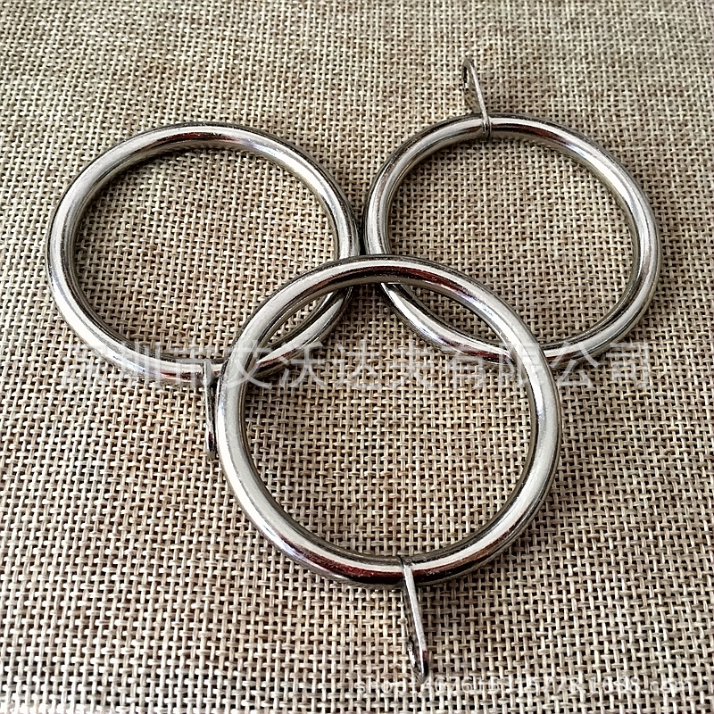 Curtain Ring Metal Curtain Clamp Hook Bracelet Curtain Hanging Rome Rod Ring Shower Curtain Ring Luo Ma Huan