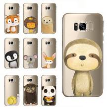 phone case zebra tiger panda mouse fox hedgehog squirrel koala bear lion for samsung note 10 9 8 5 4 s10 s9 s8 s7 s6 edge plus