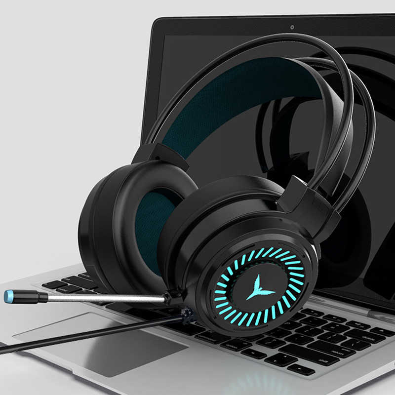 Gaming Headsets Surround Sound Stereo Bedrade Koptelefoon Usb Microfoon Kleurrijke Licht Pc Laptop Game Headset