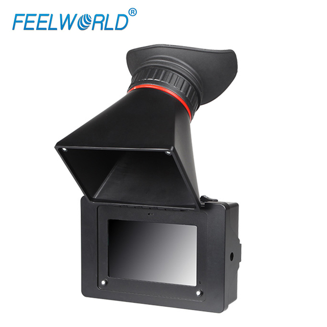 FEELWORLD S350 3,5 zoll EVF 3G SDI HDMI Elektronische Sucher 800x480 LCD Display Lupe Lupe für DSLR Kamera