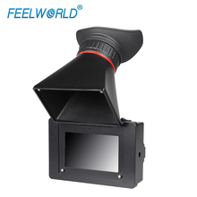 Feelworld s350 3.5 인치 evf 3g sdi hdmi 전자 뷰 파인더 dslr 카메라 용 800x480 lcd 디스플레이 돋보기 루페