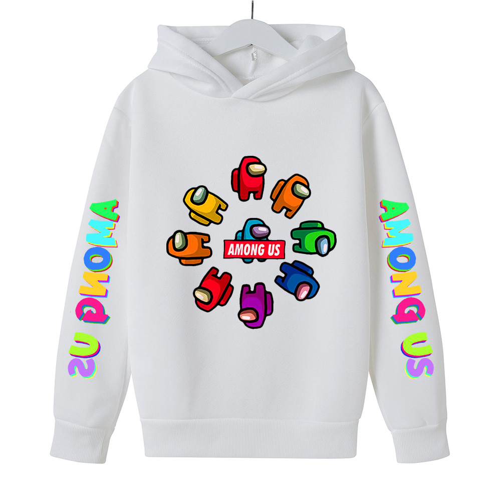 Autumn Children Among Us Impostor Printed Hoodies Boys Girls Sweatshirt Cartoon Long Sleeves Kids Sportswear Pullover Clothes