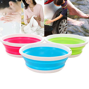 Bucket Vegetables Folding Camping Car-Washing-Tool Kitchen Fishing for Barthroom Fruit