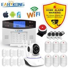 Système d'alarme intelligent WiFi, GSM et RTCP, doté de détecteurs filaires et sans-fil, maison connectée, application de suivi, en anglais, russe, espagnol, français et italien
