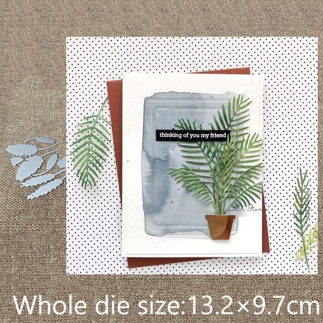Nuevo diseño de Metal molde Plantilla de corte muere 20 piezas Hojas de hierba decoración scrapbook morir cortes Tarjeta de papel para Álbum de grabado en relieve