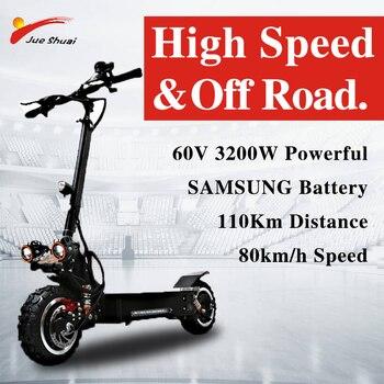 60V 2400W 3200W Scooter Eléctrico adulto sin escobillas sin engranaje Motor Samsung batería Patinete eléctrico plegable fuera de carretera E Bike