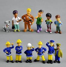 12Pcs/Set anime Fireman Sam action figure  PVC Figures doll toys 3-6cm Cute Cartoon For Decoration or collection