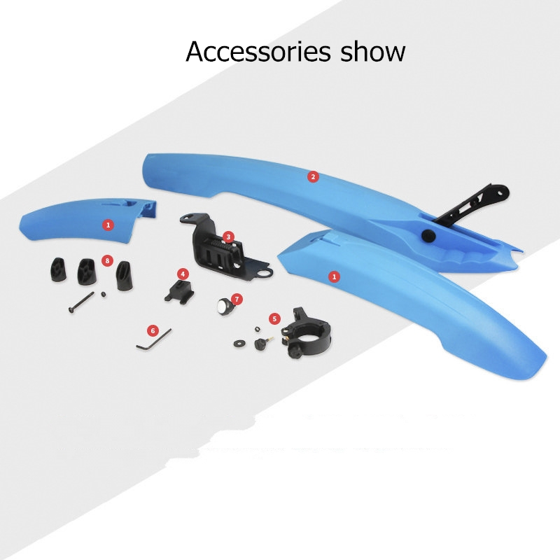 Bike Fender Bicycle Fenders Cycling Mountain Bike Mud Guards Mtb Mudguard 5 Colors Wings For Bicycle Bike Accessories Bike Parts in fenders from Sports Entertainment
