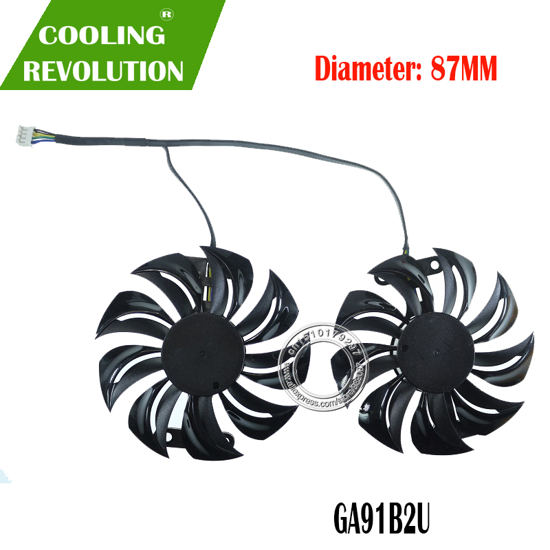 Original GA81B2U DC12V 0.38A RX 460 For DATALAND PowerColor RX460 Graphics card cooling fan image