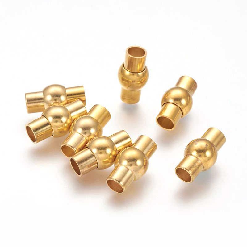 2/3/4/5/6mm laiton métal fermoirs magnétiques collier bijoux à bricoler soi-même trouvailles accessoires sans Nickel ovale argent 3 couleurs