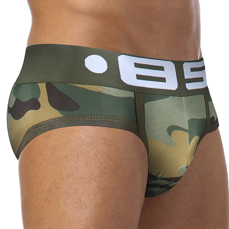 4Pcs/Lot Sexy Men Underwear Briefs 13 Colors Camouflage Cotton Solid Slip Under Wear Brief Sexy Wear Men Gay Jockstrap BS141