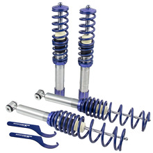 4pcs Full Coilovers adjustable Front Rear Coilover Spring Suspension for BMW 5 Series E39 Saloon 1995 2003