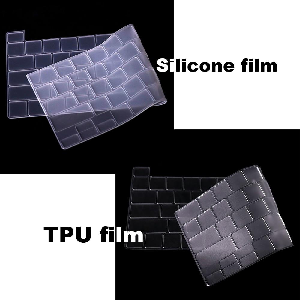 Чехол-клавиатура для ноутбука Apple, для Macbook air pro, прозрачная пленка, A2141/A1932/A1708/A2159/1466, чехол-клавиатура из ТПУ, прозрачный