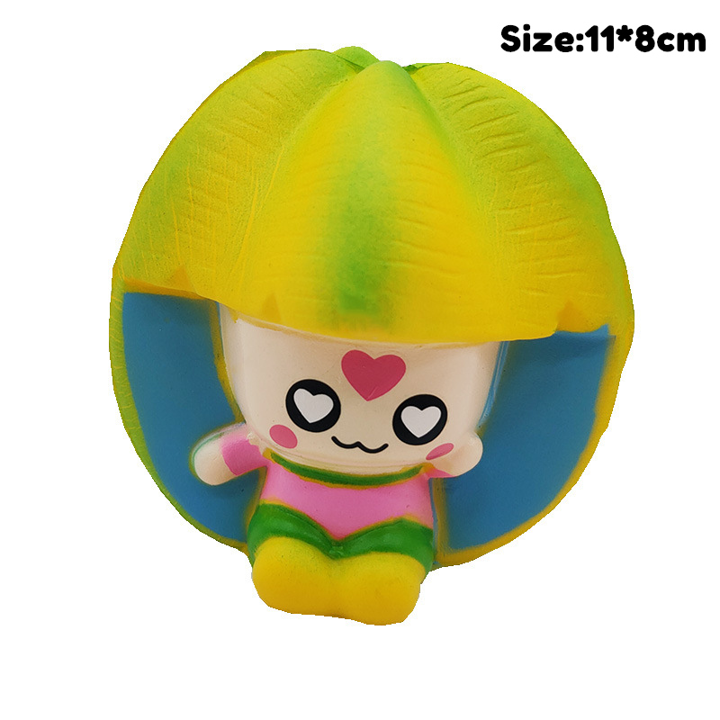 Carambola Girl Diy Antistress Squishy Toys Simulated Fruit Series Slow Rising Stress Relief Funny Toy For Adults Baby Xmas Gift