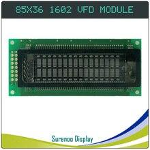 Samsung paralelo 85.00*36.00 8 bit 1602 162 16x2 vfd, tela do módulo lcd painel