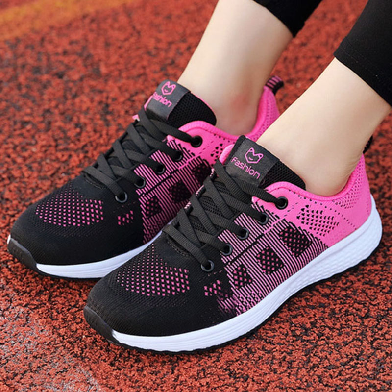 Women Casual Shoes Fashion  White Vulcanized Shoes Breathable Walking Mesh Sneakers Women Shoes Chunky Sneakers Tenis Feminino