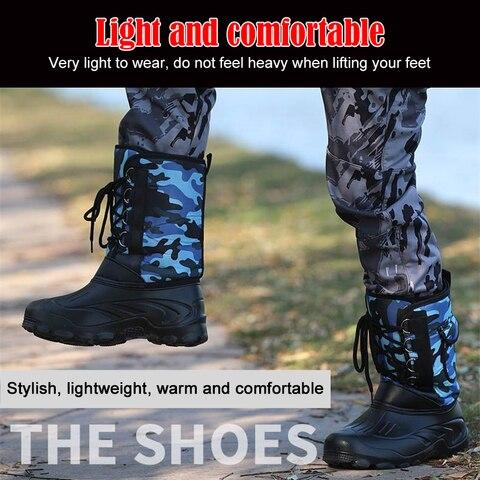 antiderrapante mais velvet wading manter quente sapato