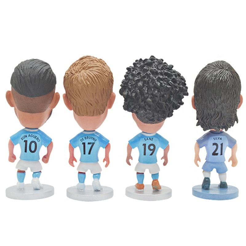 2020 European Cup Football Manchester City Star Doll Kompany Sane Aguero