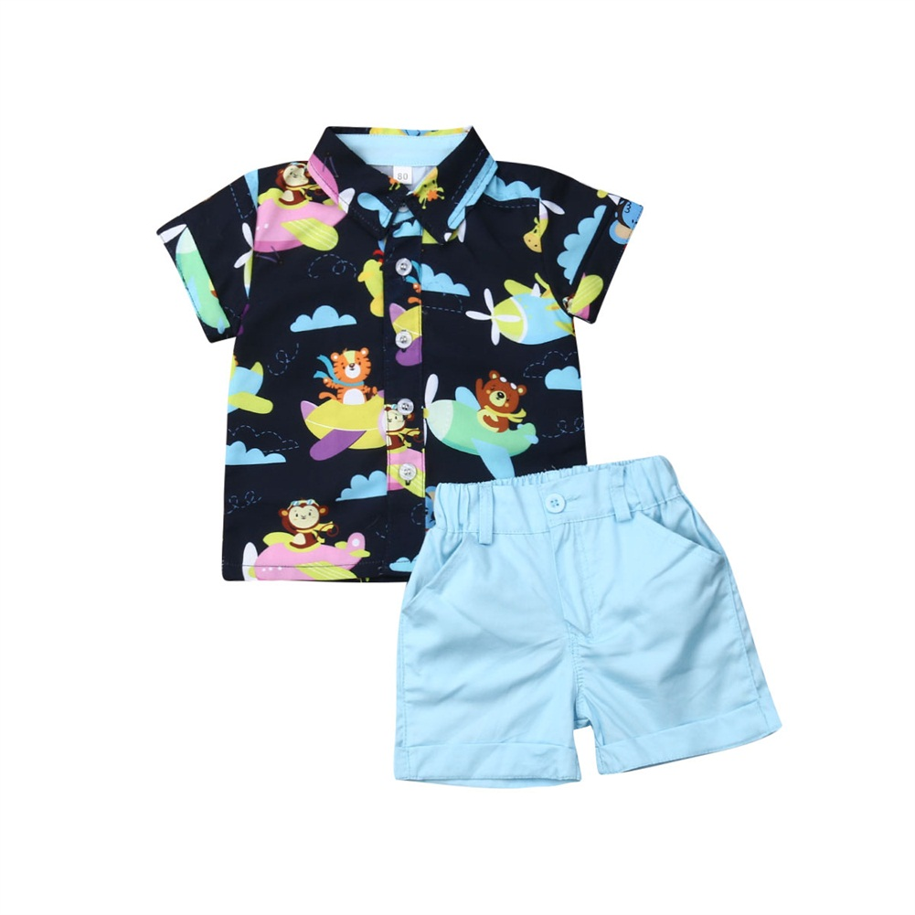 ESHOO Baby Girl Clothes Summer Outfits Short Sets 2 Pieces with T-Shirt Short Pants