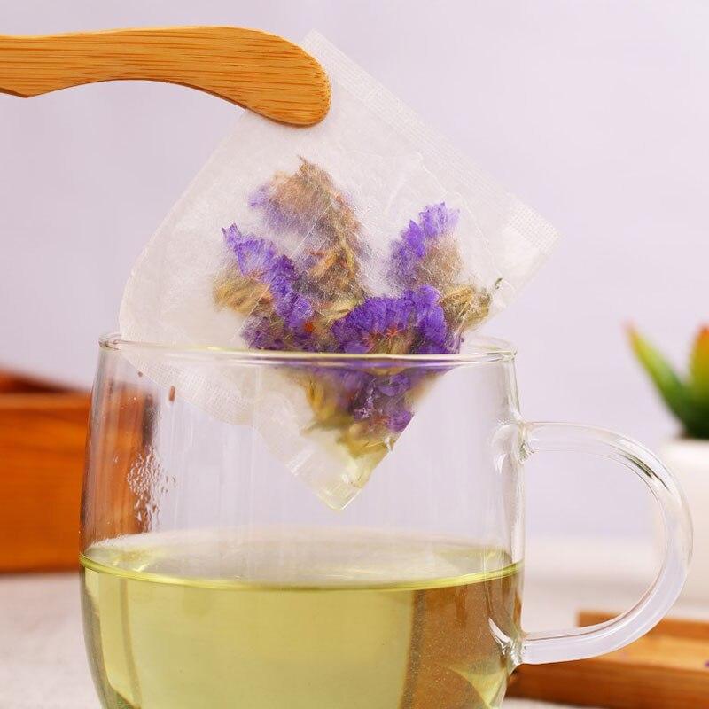 100pcs/lot 7*10cm Environmental Corn Fiber Folding Tea Bag PLA Biodegraded Herbal Teabags