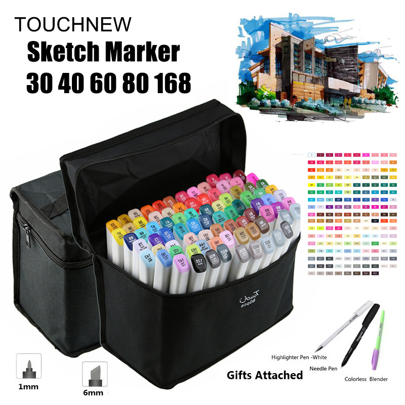 Profession 30-80# Artist Dual Head Sketch Marker Pens for Drawing Sketch