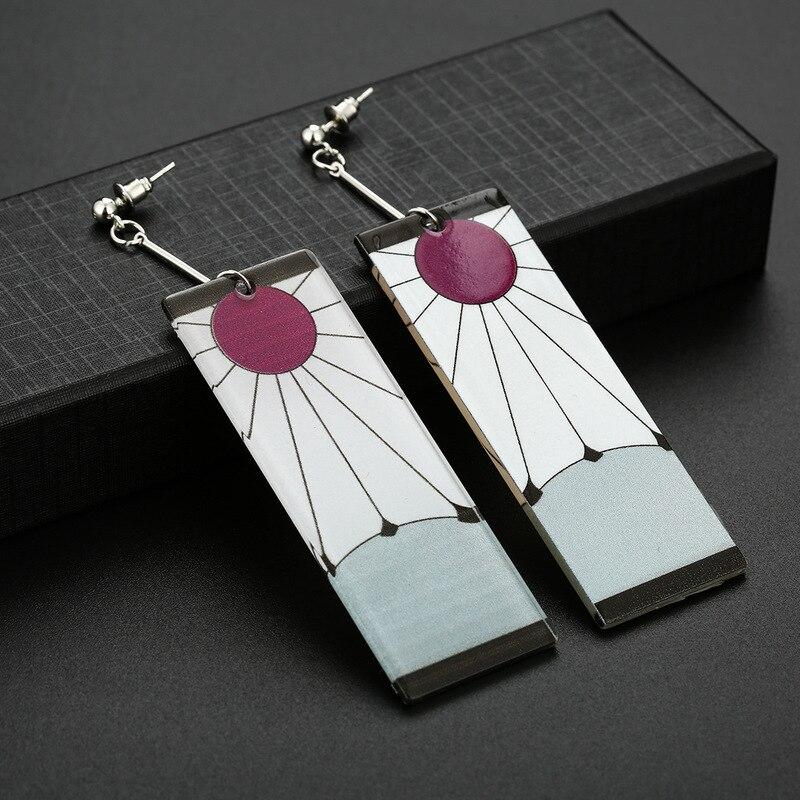 Drop Earrings Anime Acrylic Demon Slayer Kimetsu no Yaiba Blade of Ghost Earings For Women Men Gift Earrings