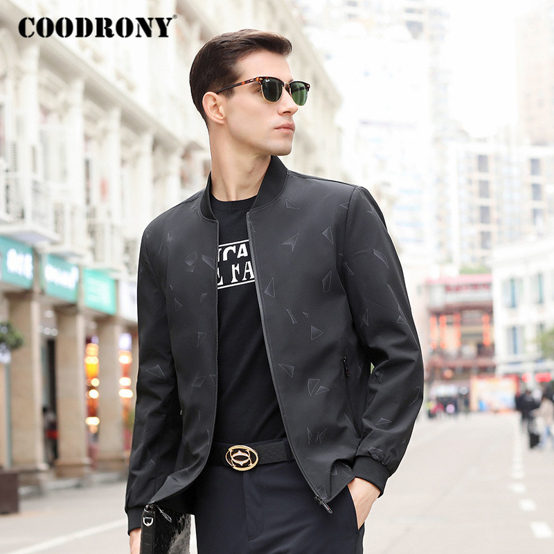 COODRONY Brand Bomber Jacket Men Spring Autumn Streetwear Fashion Casual Coat Mens Jackets And Coats Top Clothes Outerwear P8006