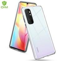 Funda de teléfono para Xiaomi a prueba de golpes Mi Note 10 lite, parachoques de TPU transparente de lujo, anticaída, a prueba de arañazos