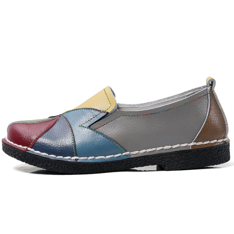 MORAZORA Plus size 35-44 New genuine leather shoes woman mixed colors casual women flats fashion spring summer lady flat shoes 3
