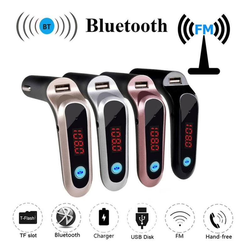 FM Transmitter MP3 Music Player USB TF Card Support Charger Wireless Bluetooth Car Kit LCD Hands-Free Mobile Phones Tablets Dsp