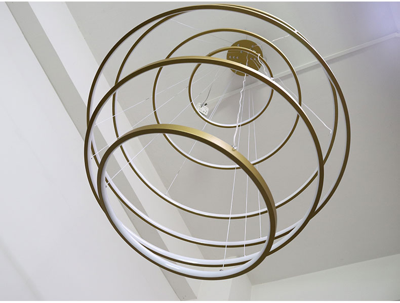 Hb8953e5a01244b7f804d59074eab9f8aX Modern Home LED Ceiling Light For Living room Dining room Kitchen Lustre 6Ring 5Rings Hanging Lamp Ceiling Lamp Lighting Fixture