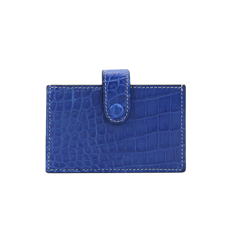 New luxury hot selling real crocodile leather accordion card holder alligaror skin card case with big capacity