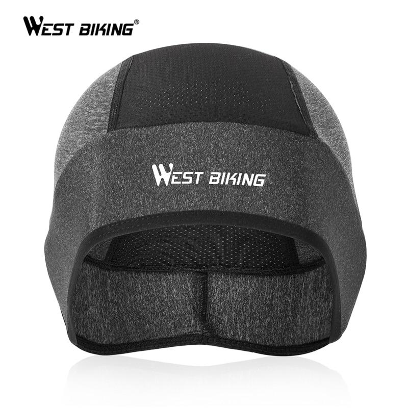 WEST BIKING Summer Sport Caps Ice Silk Anti-UV Cycling Helmet Hat Running Riding MTB Bike Bandana Headband Motorcycle Headwear