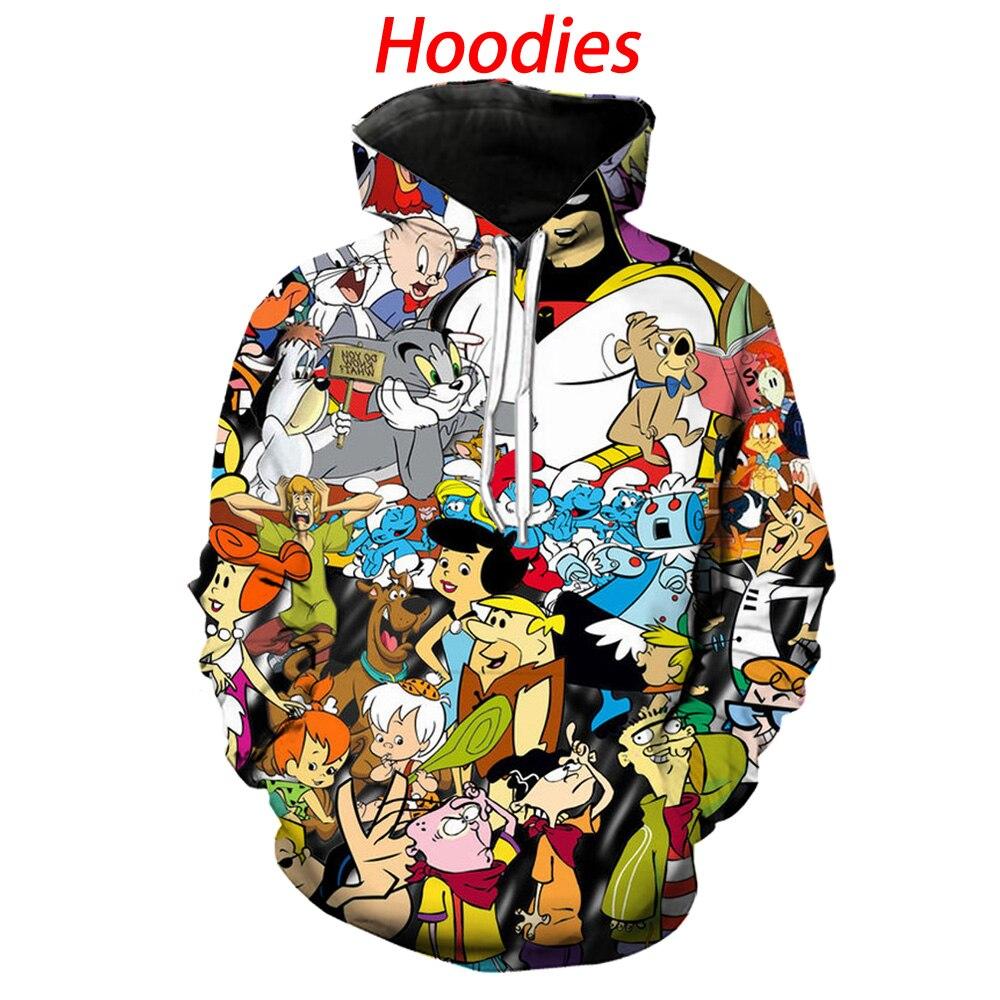 Cartoon Network 90s Hoodies 3d Print Hoody/tee Shirt/sweatshirt/pants/polo Shirts Men Harajuku Funny Streetwear Hip Hop Pullover