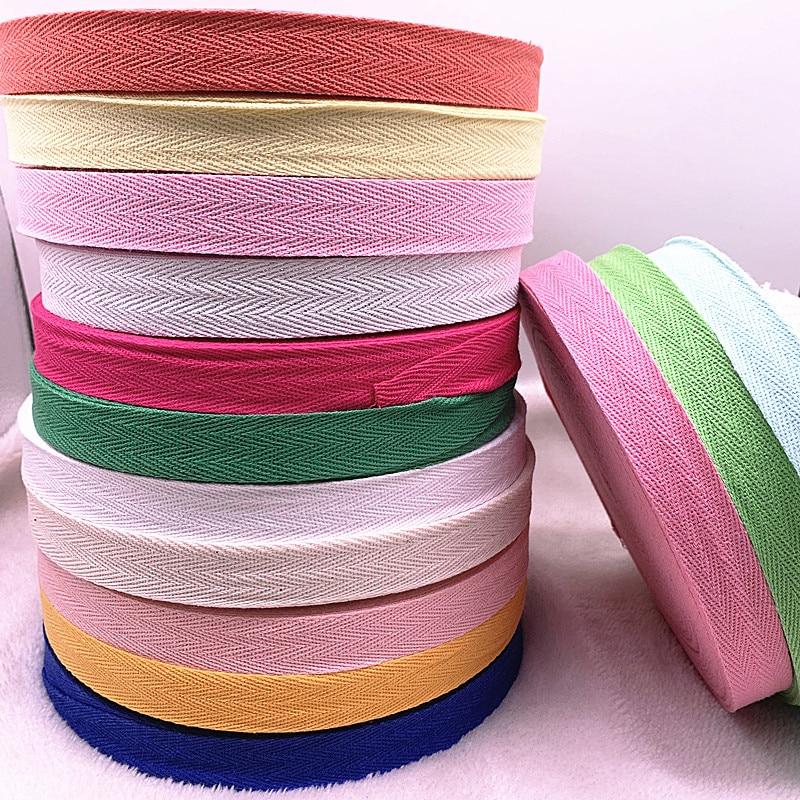 Ribbons Crafts Herringbone-Tape Fabric Wedding-Decoration Sewing DIY 100%Cotton Multi-Color