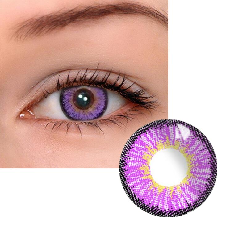 2 Pcs/pair Mrs.H Purple Anime Cosplay Eye Contacts With Color Eye Contacts With Color Lenses Year Throw Cosmetic Contact Lenses