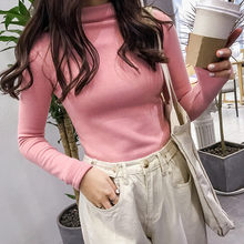 Musim Gugur Musim Dingin Turtleneck Pullover Sweater Musim Dingin Wanita Lengan Panjang Solid Beludru Basic Atasan Korea Slim-Fit Sweater Ketat(China)