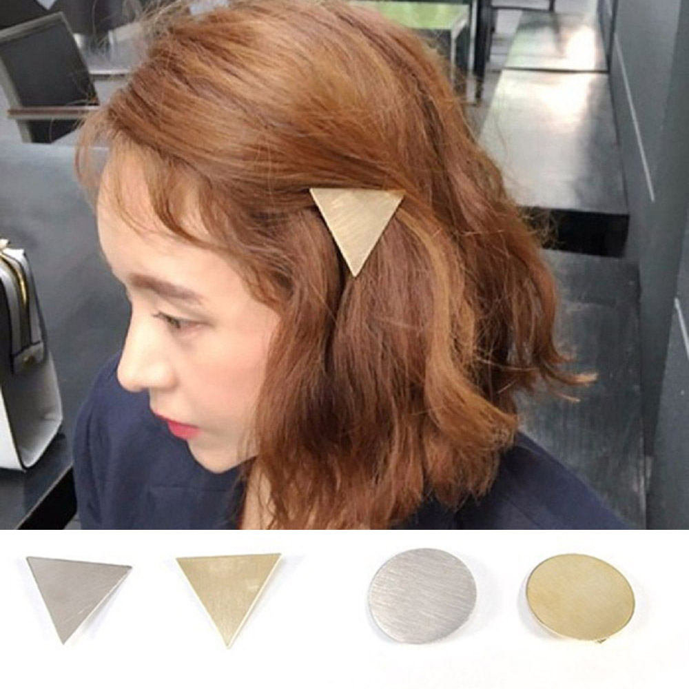 2019 Fashion Women Girls Geometric Metal Snap Hair Clips Hairpins Modern Stylish Hairgrips Barrettes Hair Accessories Tool