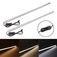 USB LED Bar Light con interruttore DC5V alta luminosità 50CM 36LEDs 5630 LED striscia rigida risparmio energetico LED Hard Kitchen Cabinet light