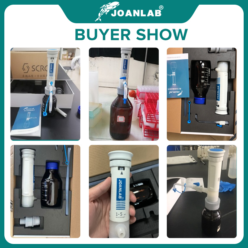 JOANLAB Official Store Bottle Top Dispenser Adjustable Quantitative Laboratory Dispenser Autoclavable Lab Equipment With Bottle 6