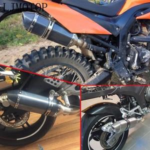Image 5 - Universal Modified Motorcycle Exhaust Muffler with DB Killer For Kawasaki NINJA 250R ZX636R NINJA 400R GTR1400 ZX14R Z1000SX